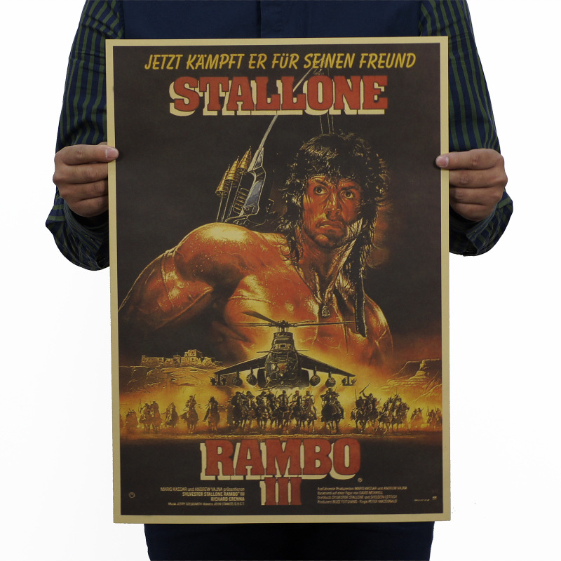 First Blood Part 3/Rambo Classic Movie/kraft Paper/bar Poster/Retro Poster/decorative Painting 51x35.5cm