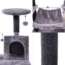 2019Luxury Cat Scratching Post Large Climbing Frame For Cat KitternToys House Multi-functional Cat Tree Board Condo Furniture