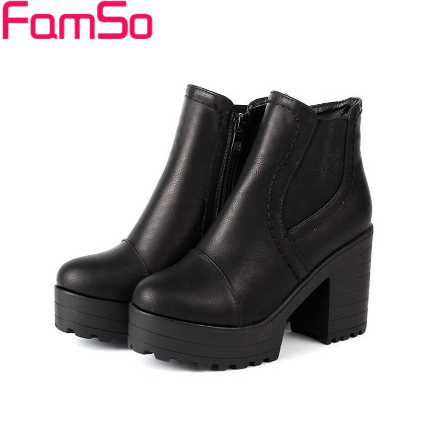 Plus Size34 43 2016 new Sexy font b Women b font Boots Designer Lady Autumn Ankle