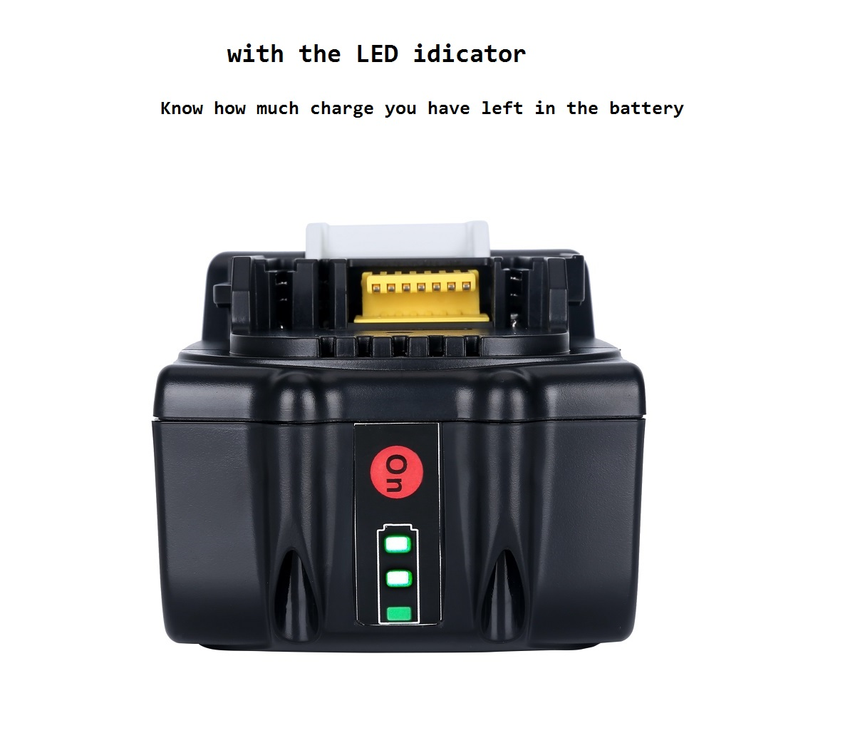 New Replacement 18V 5.0Ah Battery with LED Indicator for Makita LXT Lithium-Ion Power Tools 194205-3 BL1830 BL1850 BL1840