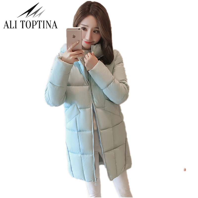 ALI TOPTINA  2017 New Winter Collection Women's Parka Hooded Warm Jacket New Fashion Brand High Quality Thick Outwear Coat MF39