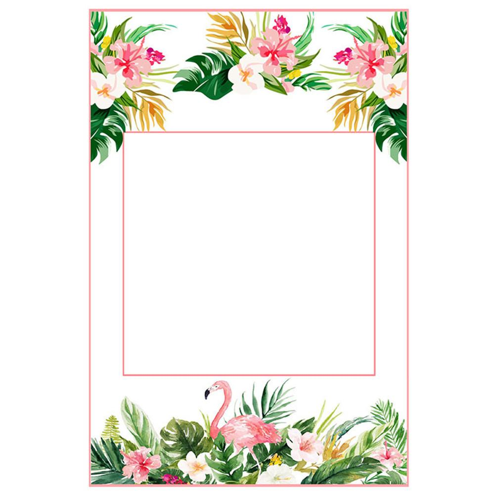2 In 1 Luau Photo Booth Props Frame Party Supplies -Hawaiian Tropical Tiki Birthday Baby Shower Bridal Shower Wedding Decoration(China)