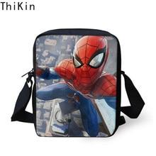 THIKIN 3D Spiderman Cartoon Printed Messenger Bag Kid Boys Light School Book Children Travel Mini Shoulder Bags Handbags
