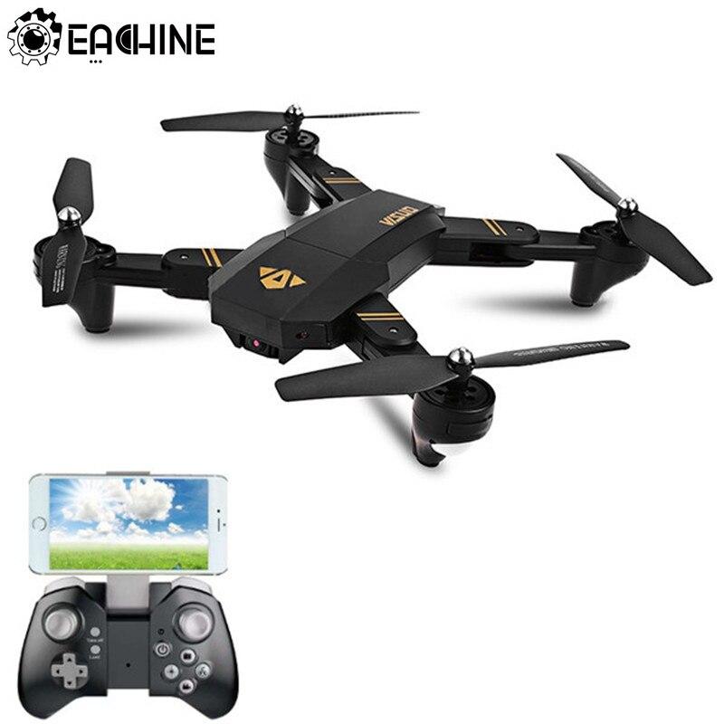 Eachine VISUO XS809HW Wi Fi FPV системы с широкий формат hd-камера Дрон Высокая режим удержания складной RTF RC Quadcopter Вертолет игрушечные лошадки Mode2