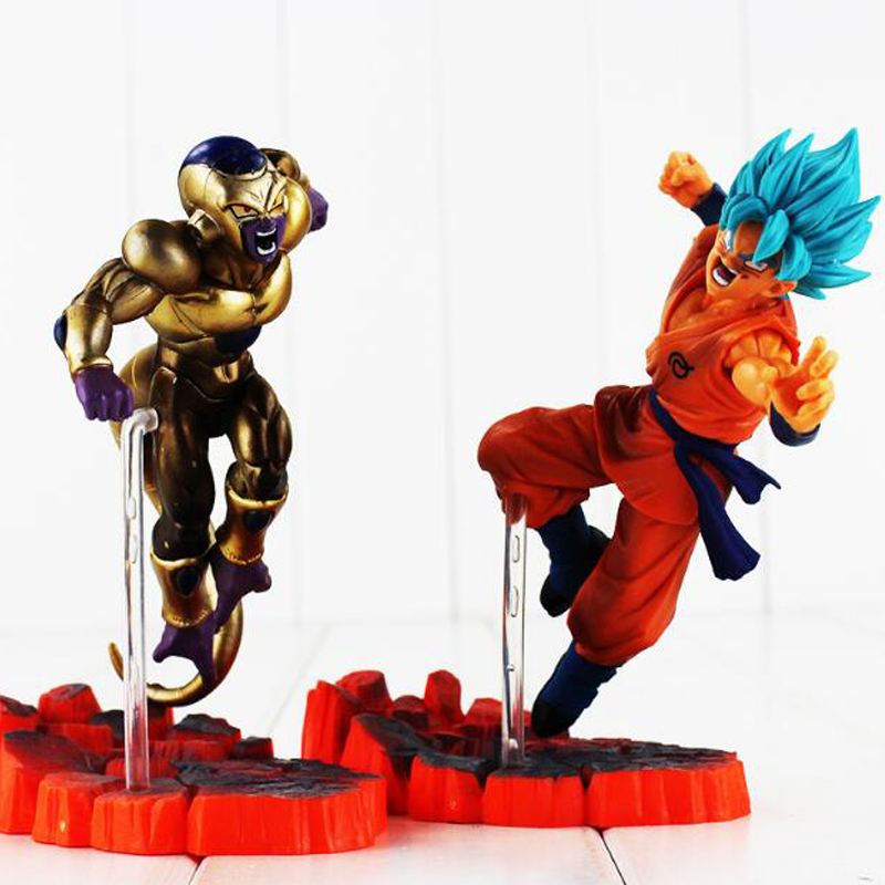 Action & Toy Figures Dragon Ball Z Son Goku Vs Frieza Pvc Action Figure Dbz Super Saiyan Goku Gold Frieza Confrontation Model Toy 15cm Free Shipping