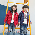2016 Winter Jacket Girls Down Coat Casual Kids Winter Coats Boys Winter Jackets With White Duck Down Zipper Sweater With Hooded