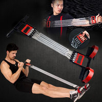 3 In 1 Chest Developer Spring Expander+Hand Grip+Pedal 5 Spring Multi functional Detachable Muscle Exercise Equipment B2