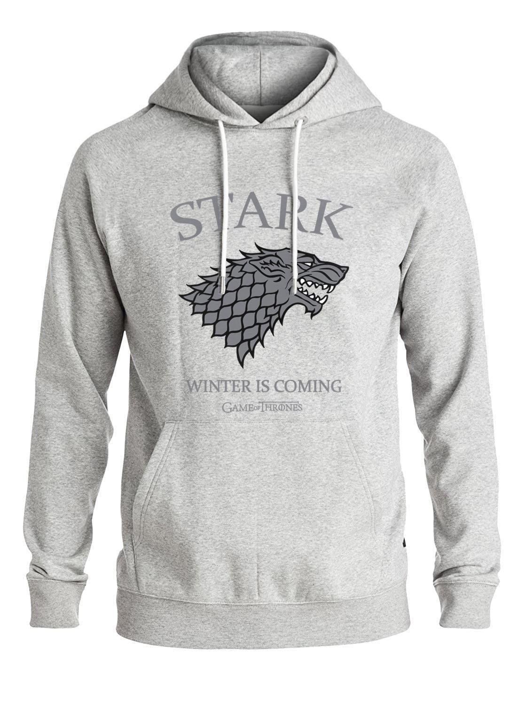 2019 Autumn Winter Fleece New Arrival Sweatshirt Men Hoody Game of Thrones House Stark Print Streetwear Crossfit Men's Hoodies