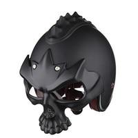 Sale Skull Motorcycle Helmet Half Face Helmet Motorbike Capacetes Casco Retro Casque Dual Purpose Helmet For
