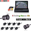 Koorinwoo Video Car Parking Sensors 8 Radars 4 3 Inch Car Monitor Alarm Front Camera Rear