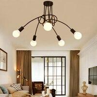 Vintage Ceiling Lights Modern Light Fixtures LED Lamps Home Lighting Metal Lampshade Industrial Edison E27 Holder 3/5/8 Heads