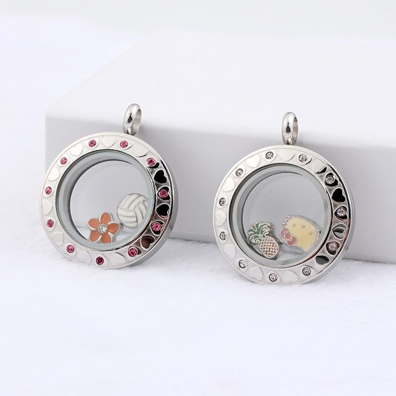 URSJEWELRY плавающая подвеска, медальон 28 мм Твист открытый 316L нержавеющая сталь Стекло Медальоны живой памяти ожерелье