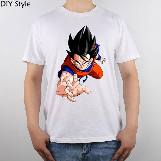 Renderização De Dragon Ball z Goku T-shirt Top camisa Dos Homens T Novo Design Puro Algodão de Alta Qualidade