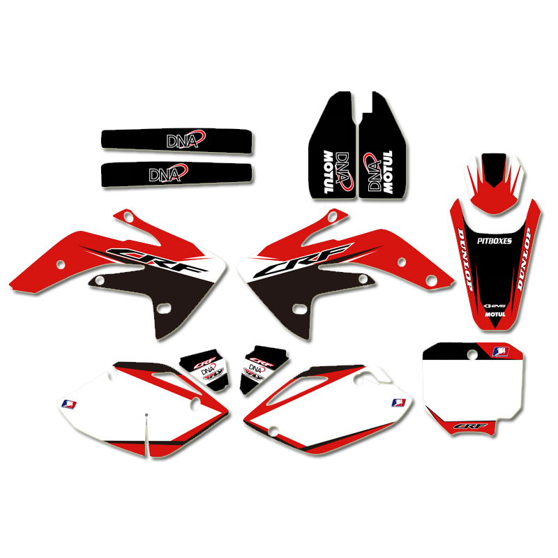 Graphics Backgrounds Decal Motorcycle Sticker Kit for Honda CRF150R CRF 150R LIQUID COOLED 2007 2012 2011