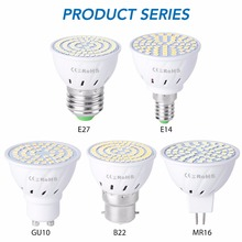 GU10 Spotlight Bulb 220V E27 LED Ampoule Lamp 48 60 80leds E14 Led Corn Light MR16 SMD2835 Bombillas Led B22 240V GU5.3 4W 6W 8W