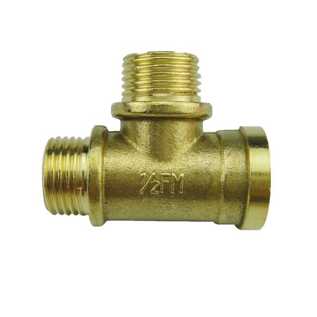 Quot brass tee union gas pipe fittings femal