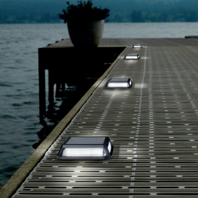 Neues Design 12,4 cm Solar Power Led Outdoor Pfad Schritt Einfahrt ...