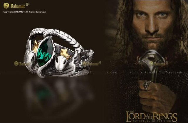 LOTR Ring Aragorn's Ring of Barahir  Men Jewelry  Cosplay Rings For Men
