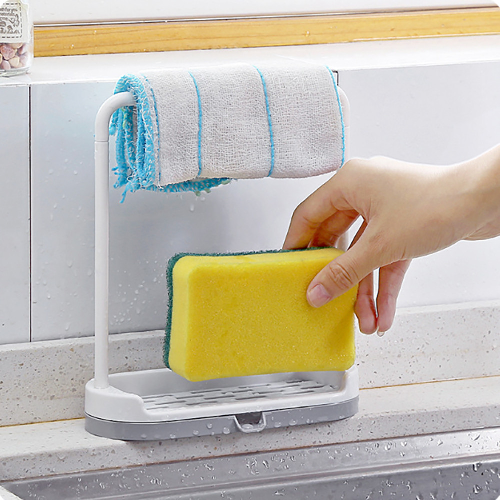 Saingace sponge holder for kitchen sink organizer towel