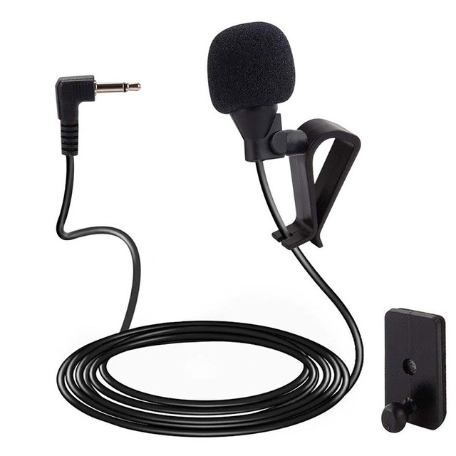 1pcs newest 2.5mm connector Bluetooth External Microphone Car For Pioneer Stereos Radio Receiver 3M Length Cheap hot sale