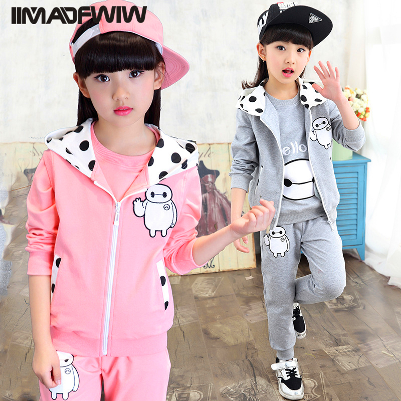 2017 new Korean children's clothing children's spring suit children's girls sports three-piece sets of autumn tide шина bridgestone blizzak spike 02 175 65 r14 82t шип