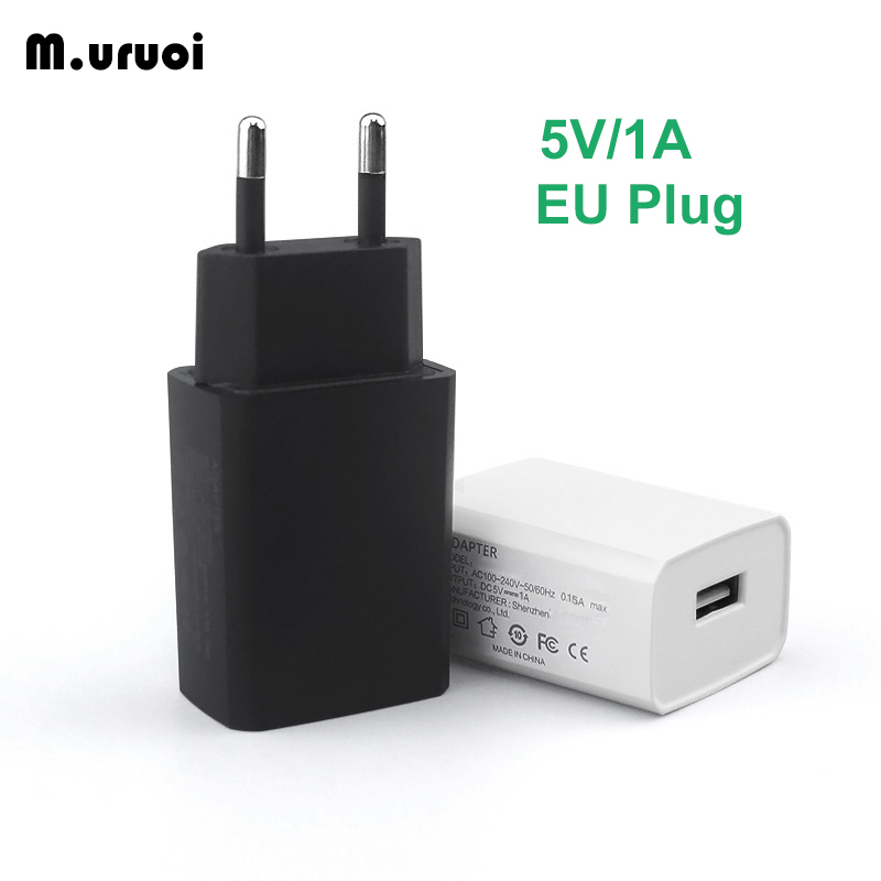 M.uruoi EU Plug Charger 5V/1A USB AC Travel Wall Charging Power Adapter For Electric Toothbrush Breast Pump Mobile Phone Adapter image