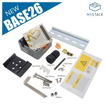 M5Stack Base26 Proto Industrial Board Module Highly Customizable M-BUS Extension Plastic Enclosure Alternative parts