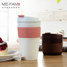 ME.FAM New 355ml Silicone Travel Foldable Coffee Cups With Spiral PP Dustproof Lid Portable Retractable Seal Storage Water Cup
