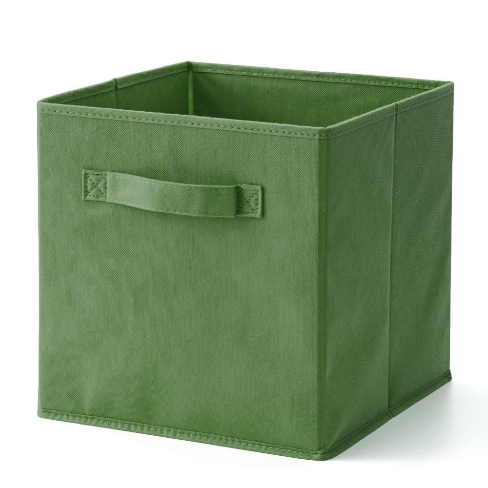 US $11 19 6% OFF|Hangerlink Niagara Blue Fabric Cube Storage Bins,  Foldable, Premium Quality Collapsible Baskets, Closet Organizer Drawers-in  Storage