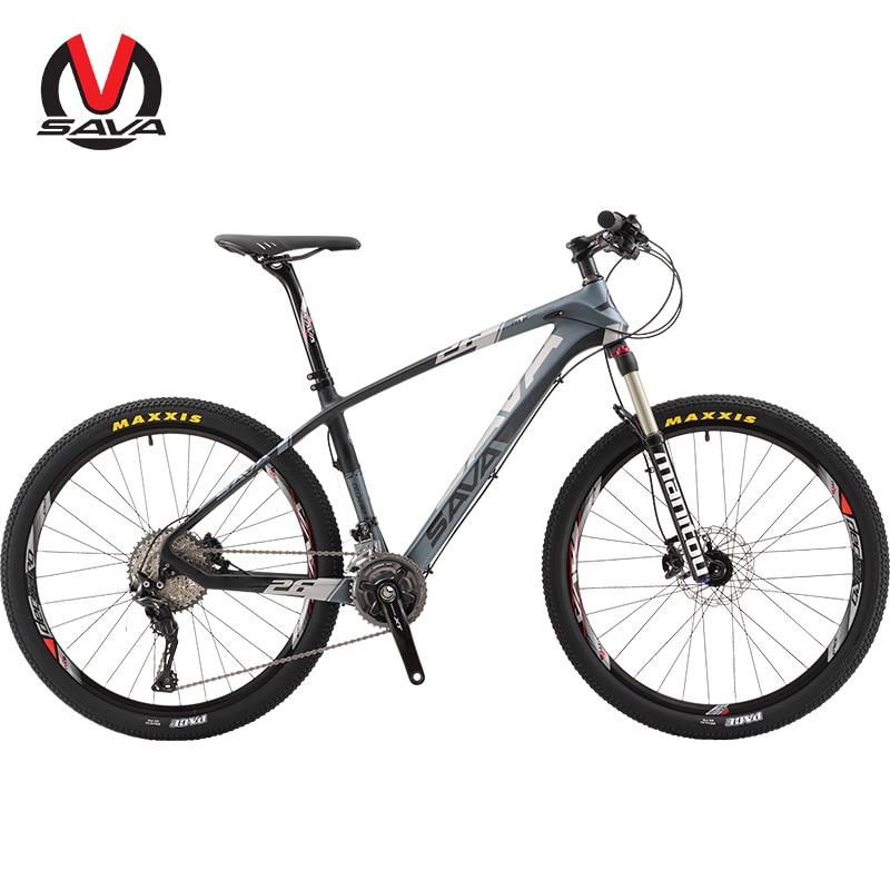 SAVA 30 Velocidad Hombres Mujeres Bicicleta Mountain Bike 26 Pulgadas de Fibra d