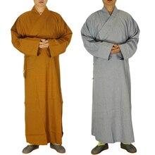 2 цвета шаолин храмовый костюм дзен-буддистское одеяние монах медитация платье буддистский монах комплект одежды тренировочная форма костюм