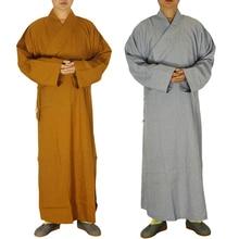 2 colori Shaolin Temple Abito costume Buddista Zen Robe Lay Monk Meditazione  Buddismo Monaco vestiti set 604f963021e