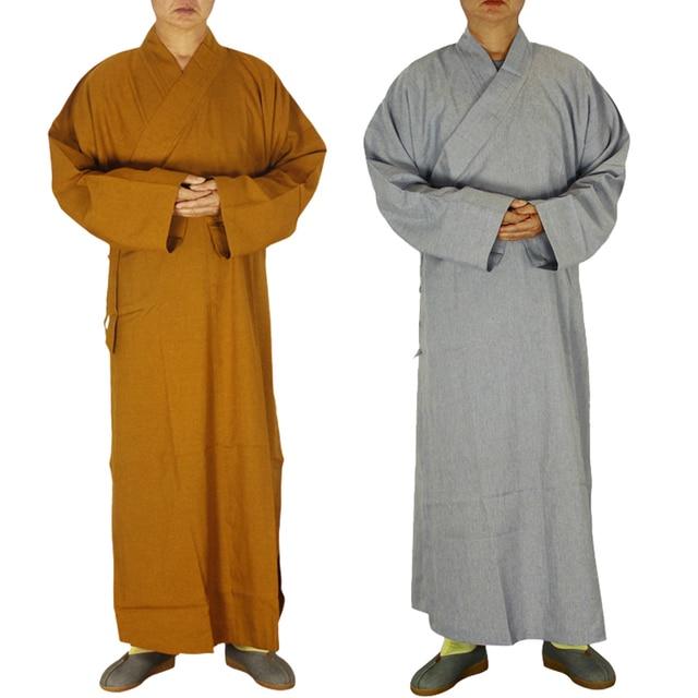 2 цвета храм Шаолинь костюм дзен-буддистское одеяние лежал монах медитация платье буддистский монах комплект одежды тренировочная форма костюм
