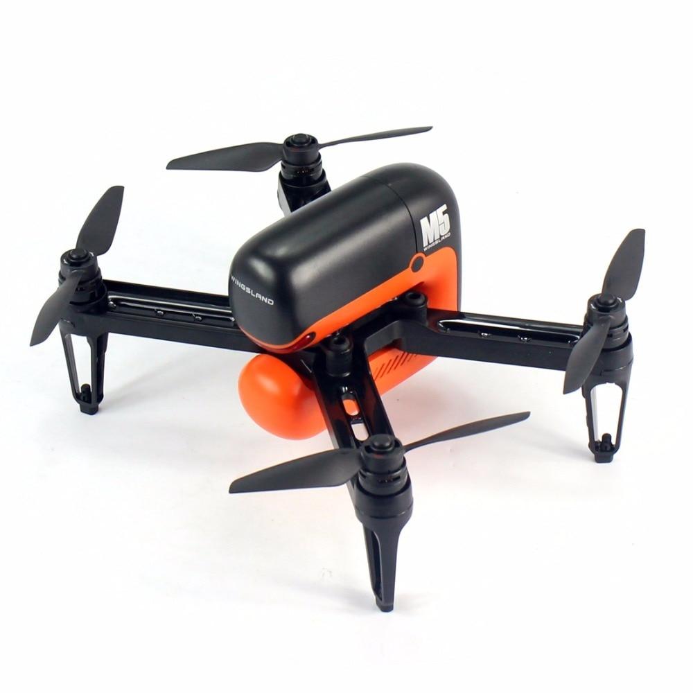 WINGSLAND M5 Portable Mini Drone RC Quadcopter Smart UAV FPV GPS Mode APP control fpv x uav talon uav 1720mm fpv plane gray white version flying glider epo modle rc model airplane