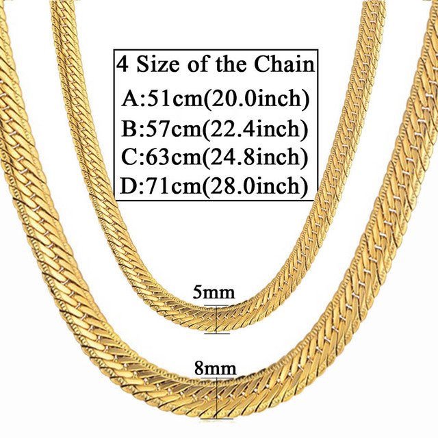 Gold Curb Long Chain 4