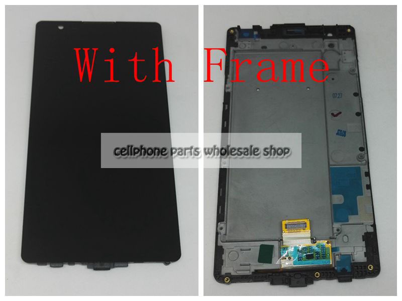 Highbirdfly For Lg X Power K220 K220DS Lcd Screen Display WIth Touch Glass Digitizer With Frame Assembly Replacement parts