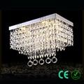 Люстра E14 95-245v Металл K9 кристалл небольшой прямоугольник фойе современный Asile light E CE ROSH индивидуальный дизайн