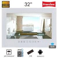 Souria 32 дюймов волшебное зеркало Android роскошный Смарт ТВ Телевизор отель ТВ wifi full HD 1080 светодио дный P душ LED ТВ рекламные проигрыватели