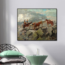 Horses and People Famous Oil Painting Wall Art Poster Print Canvas Calligraphy Decor Picture for Living Room Home