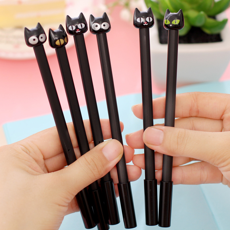0 38mm Creative dolphin Cat Flamingos Gel Pen Signature Pen Escolar Papelaria School Office Stationery Supply Promotional Gift in Banner Pens from Office School Supplies