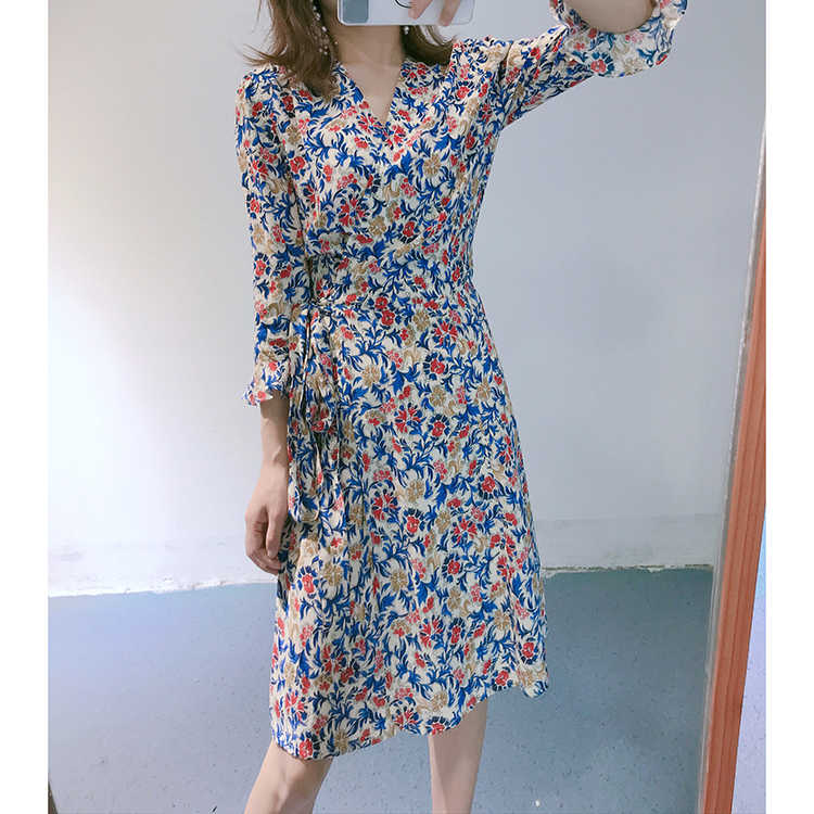 b8cb8c080b894 Ins Hot Fashion Spring and Summer Women Dress Long Sleeve Flower ...