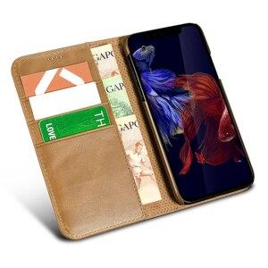 Image 5 - Orijinal XOOMZ hakiki deri cüzdan kılıf iPhone XS için XR XS MAX lüks Vintage mıknatıs Flip kapak telefon kılıfı için iPhone X durumda