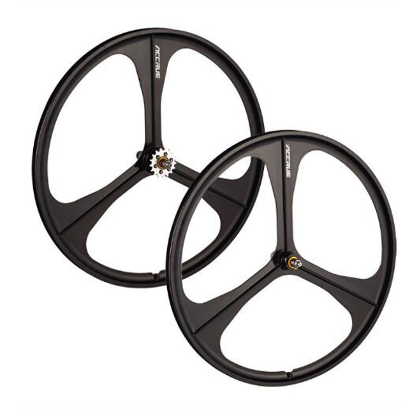 Magnesium Alloy wheel 700C bike wheel   fixie Bicycle  Mag TRI front rear wheel Mag Alloy Fixed gear bike integrat wheels Rims mag 200 в киеве