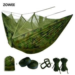 ZOWEE Mosquito net Parachute Hammock Camping Tent sleeping
