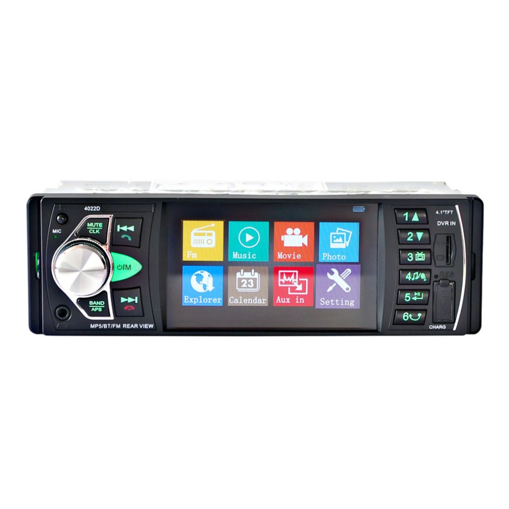 4.1inch TFT HD Digital Screen Car DVD 4022D Audio MP5 Player Radio FM Transmitter Bluetooth Support Hands-free Calls free shipping car refitting dvd frame dvd panel dash kit fascia radio frame audio frame for 2012 kia k3 2din chinese ca1016