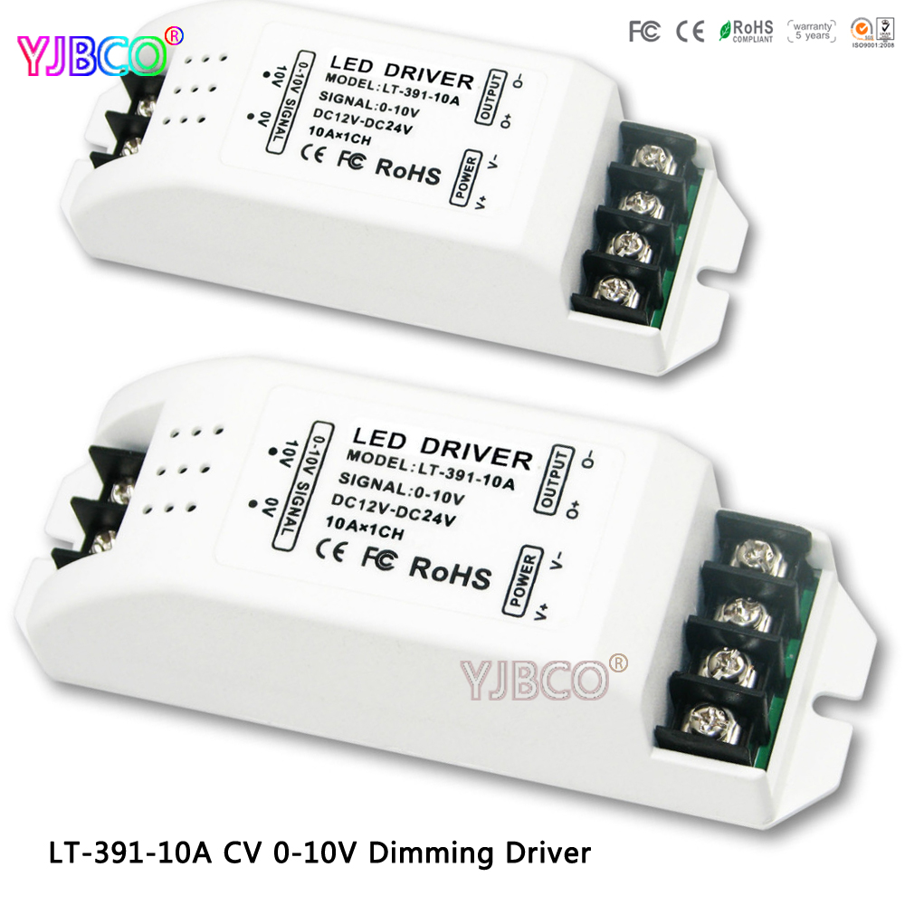 LT-391-10A 0-10V constant voltage led dimming driver DC12-24V input;10A*1CH Max 10A output for led light,Free shipping 100pcs 10 50v 60a dc motor speed control pwm hho rc controller 12v 24v 48v 3000w max high quality dhl ems fedex free shipping