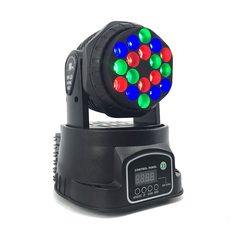 LED Beam 18x3W RGB Moving Head Light LED Wash Moving Stage Lighting  For Luces Discoteca Professional Stage & dj