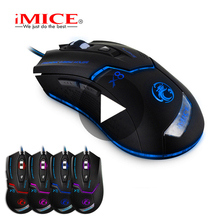iMice Game Gaming Mouse Gamer Wired With Backlight Cable Wire RGB For Computer PC Laptop Ergonomic Mause Rato Gamerskaya Raton
