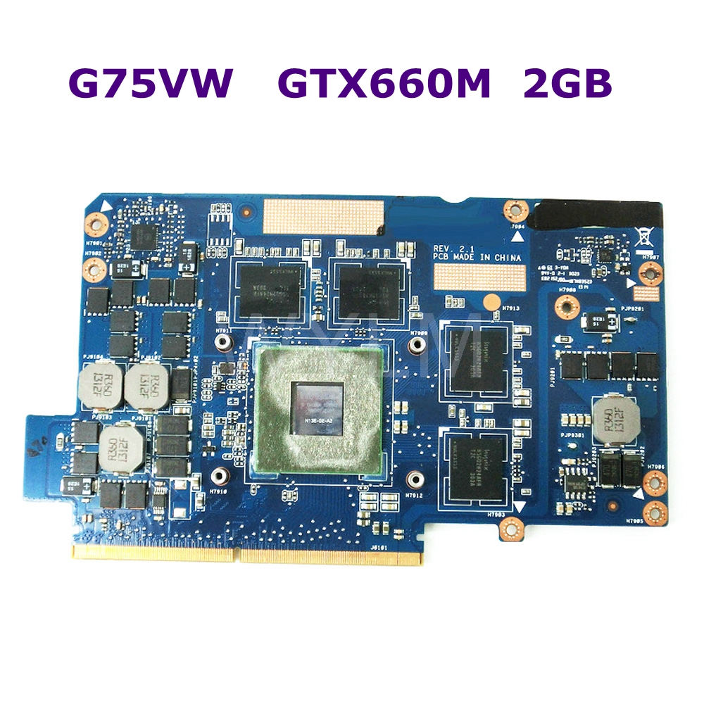 G75VW Garphics Card GeForce GTX660M 2GB N13E-GE-A2 G75 G75V G75VX 2GB Video VGA Card 100% Tested working well Free shipping board for 250 044 901d 2gb dae lcc well tested working