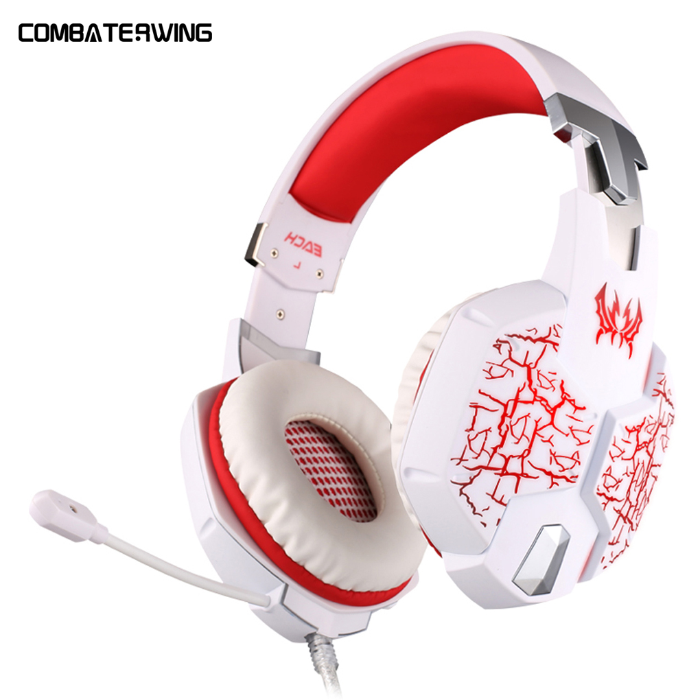 EACH G1100 Vibration Function Professional Headphone Earphone Games Mic Stereo Bass Breathing LED Light PC Gamer g1100 vibration function professional gaming headphone games headset with mic stereo bass breathing led light for pc gamer